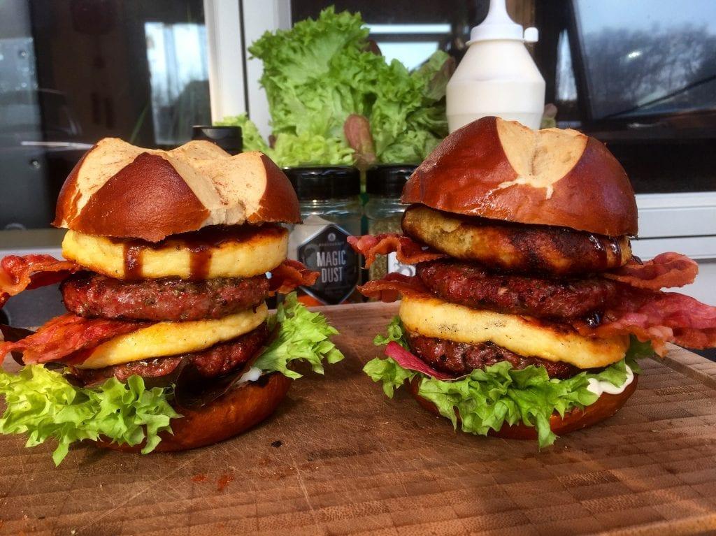 Dobbelt Cheese Coin Burger