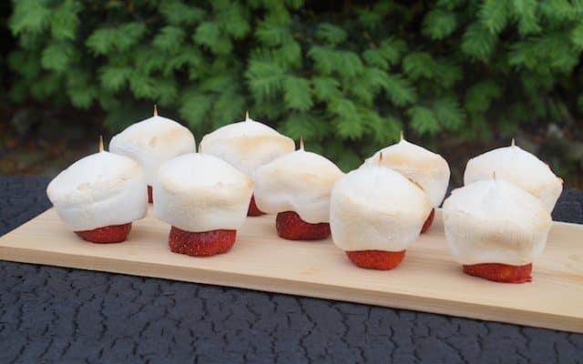 Grillet Skumfiduser med Jordbær!