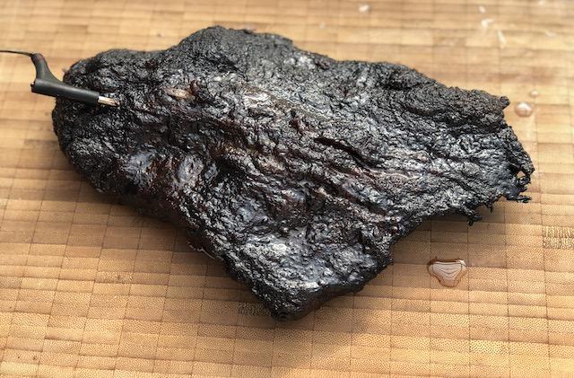 Beef Brisket Point med en fantastisk Bark og meget saftig.