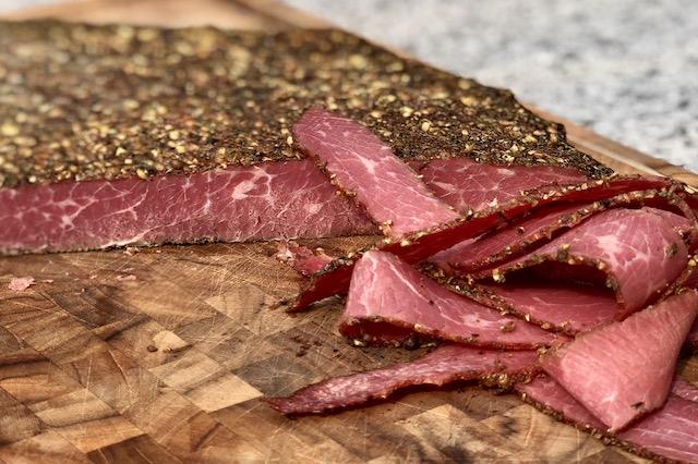 Pastrami - New York Style, af en ægte Wagyu Beef Brisket Flat