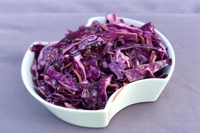 Red Cabbage Slaw - Frugtig Rødkålsalat med Cranberries