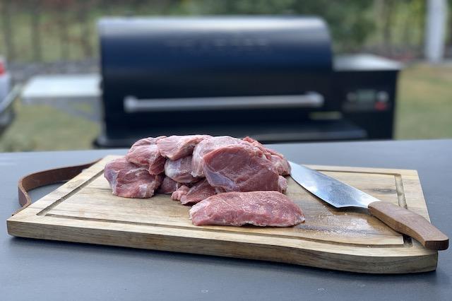 Trimmede Svinekæber med Njord Chefknife