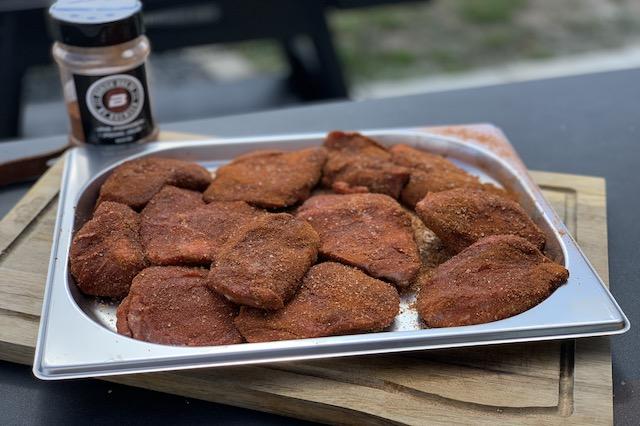 Svinekæber med Danish BBQ Pig Powder BBQ Rub