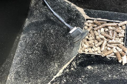 gummiprop med stik til pelletsensor