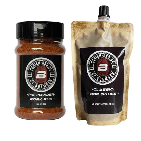 Pig Powder BBQ Rub & Classic BBQ Sauce Set
