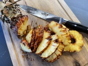 Karamelliseret Ananas på Rotisseri